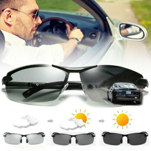 Photochromic Polarized Men Sunglasses Glasses Len Goggles Sports Driving Glasses