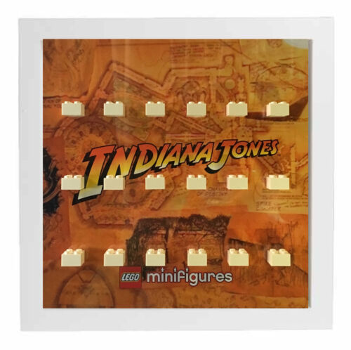 Lego Indiana Jones Minifigures Display Case Picture Frame  minifigs
