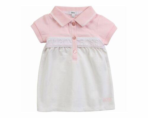 HUGO BOSS Baby/'s J92044 44 L Girl/'s Polo Robe Rose