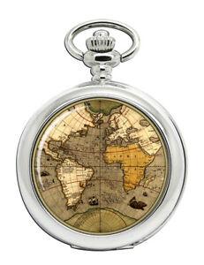 Antik-Weltkarte-Taschenuhr