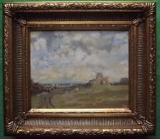 St Benets Abbey Norfolk B : Original Impressionist Oil Painting by David Baxter