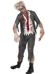 Halloween-Pour-Hommes-Zombie-ecolier-Costume-Deguisement-Garcon-Ecole-by-Smiffys