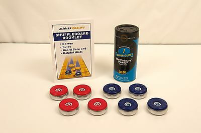 8 AMERICAN TABLE SHUFFLEBOARD PUCK REPLACEMENT WEIGHTS MEDIUM 2 1//8 RULEBOOKLET