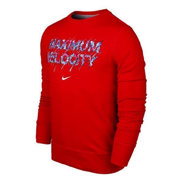 Sweat Sweater Nike Graphic Velocity Maximum Crew Top Shirt Graffiti qwxPZft1x4
