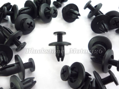 x50 Push Type Clip Nylon Retainer 6mm Hole Fits For Nissan For Honda For Isuzu