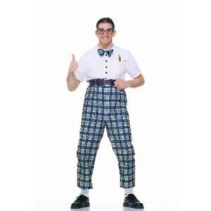 buy online 986f1 084c4 Dettagli su Da Uomo Adulti Divertente Anni 50 Classe Nerd Dork Costume  Vestito