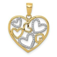 Charm colgante einhänger corazón 3d brillo real oro 333 oro dorado 8kt corazoncito