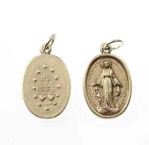Catolica-Milagroso-Virgen-Maria-Imagen-METAL-medalla-rosario-Colgante-2cm