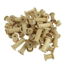 Wooden Spools Bobbins Textile Cotton Sewing Reels Mixed Sizes  Pack of 60