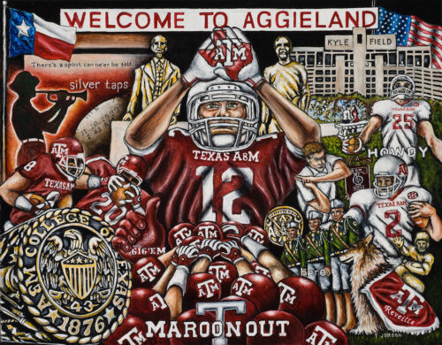 """/""""Welcome To Aggieland/"""" College Tribute Print  from Thomas Jordan Gallery"""