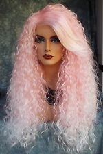 LONG CURLY COSTUME WIG HALLOWEEN PARTIES FANTASY *CLR PINK ICE US SELL  366