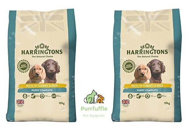 2x 10KG BAGS HARRINGTONS PUPPY DRY DOG FOOD DAIRY & SOYA FREE NO ADDED WHEAT