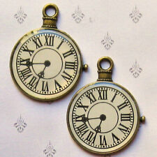 BC1649 12 Bee Charms Antique Bronze Tone 2 Sided
