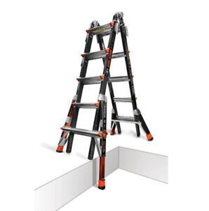 22 1A Fiberglass Little Giant Dark Horse Ladder w/ Ratchet Levelers 15145-801
