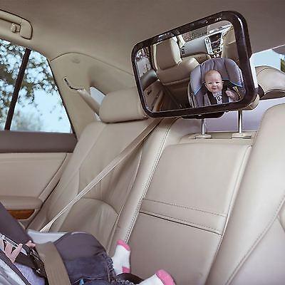 USA Adjustable Wide View Rear//Baby//Child Seat Car Safety Mirror Headrest Mount