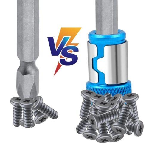 "Hot 6.35mm//0.25/"" Hex Shank Release Drill Magnetic Screw Screwdriver Bit Holder"