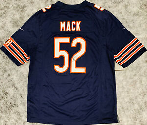 c81049dd Details about Chicago Bears Khalil Mack Signed Nike Navy Jersey - BAS  Beckett Witnessed COA