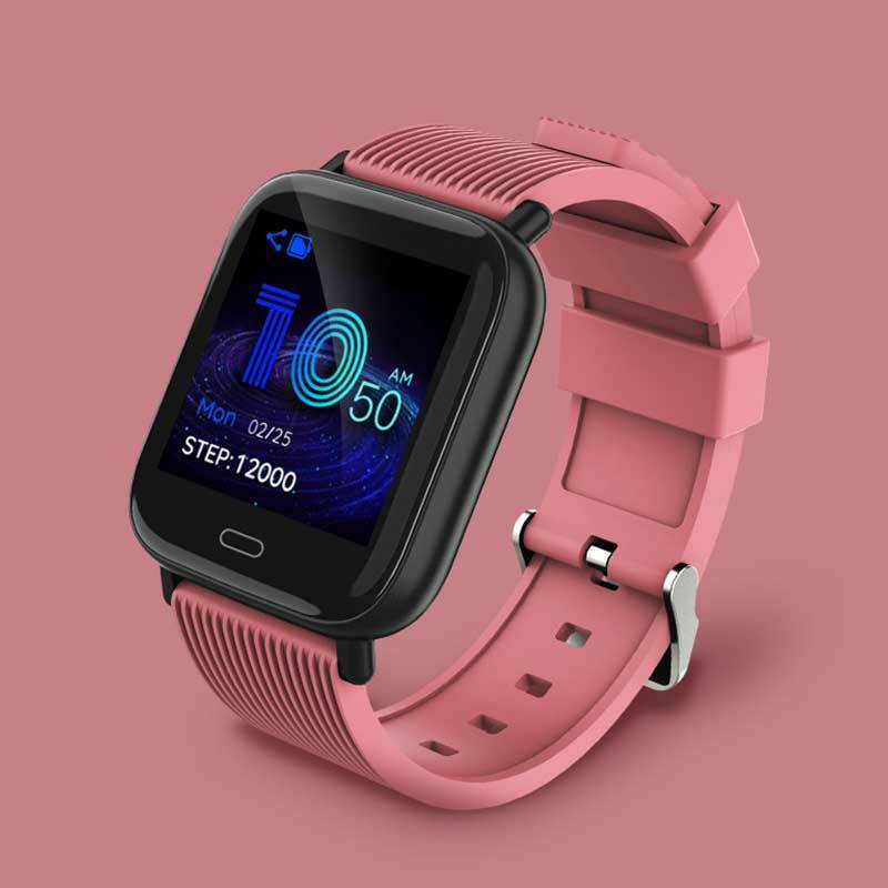 LANON Smart Watch Heart Rate Monitor Wristband for iOS Android Outdoor Sports