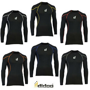 Didoo-compression-base-layer-body-Armour-Long-Sleeve-mens-gym-t-shirt-Sports-top
