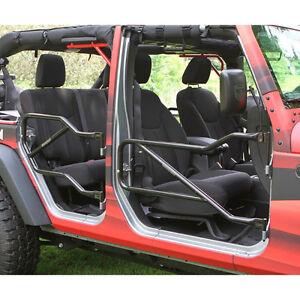 Image is loading Tube-Doors-Kit-Jeep-Wrangler-JK-2007-2017- & Tube Doors Kit Jeep Wrangler JK 2007-2017 Front And Rear J0031028 ...
