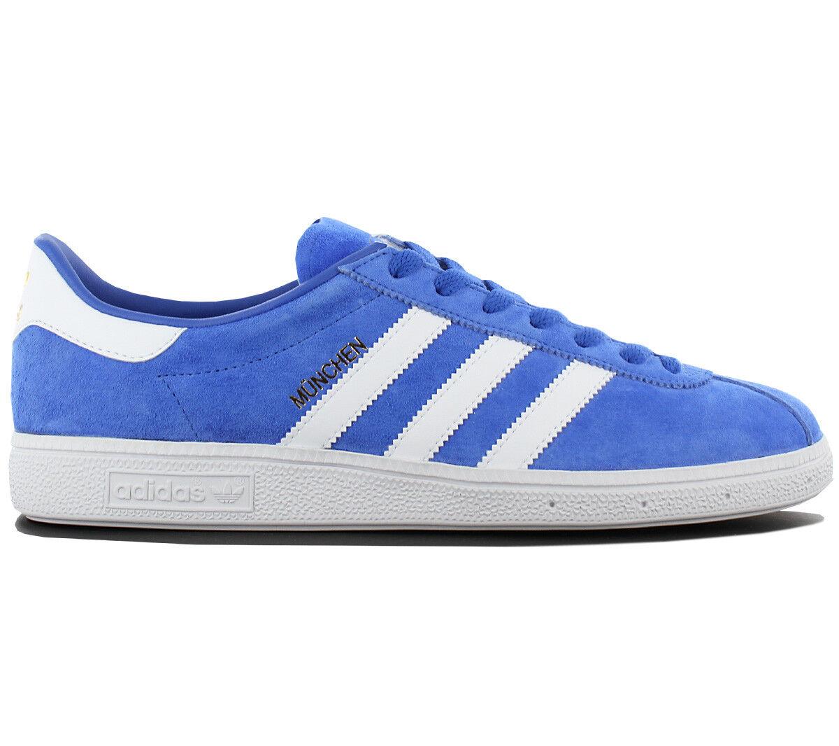 Adidas Originals München Leder Herren Sneaker Schuhe Blau BY1723 Turnschuhe