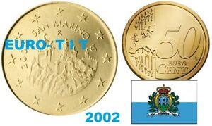 50   CENTIMES   SAINT  MARIN    2002    NEUVE    ASSEZ  RARE    disponible
