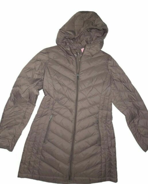 London Fog Womens Packable Down Jacket with Hood