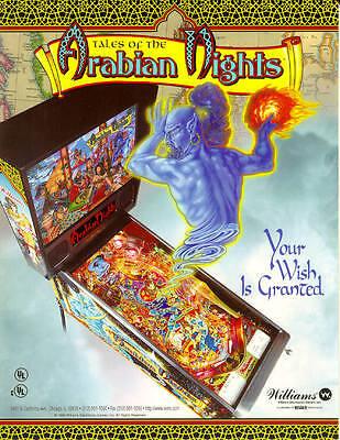 EPROM Tales Of The Arabian Nights Pinball-SoundRom 1.1 S2 Bally // Williams