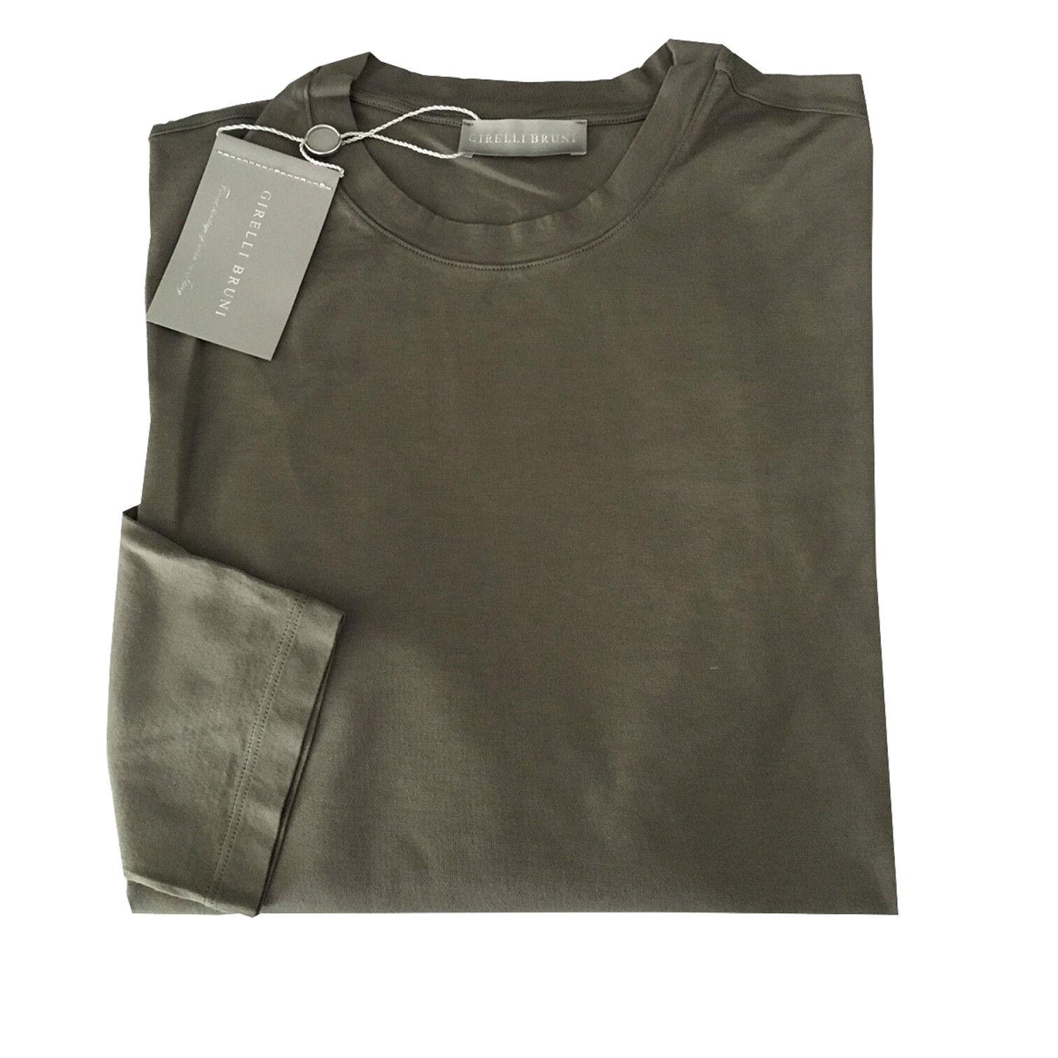 GIRELLI BRUNI T-Shirt Herren lange Ärmel military braun GIZA 60 in Ita