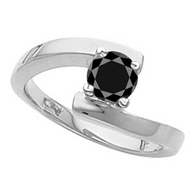 Motivated 2.53 Ct Black Moissanite Solitaire Diamond 925 Sterling Silver Engagement Ring Promote The Production Of Body Fluid And Saliva Gemstone