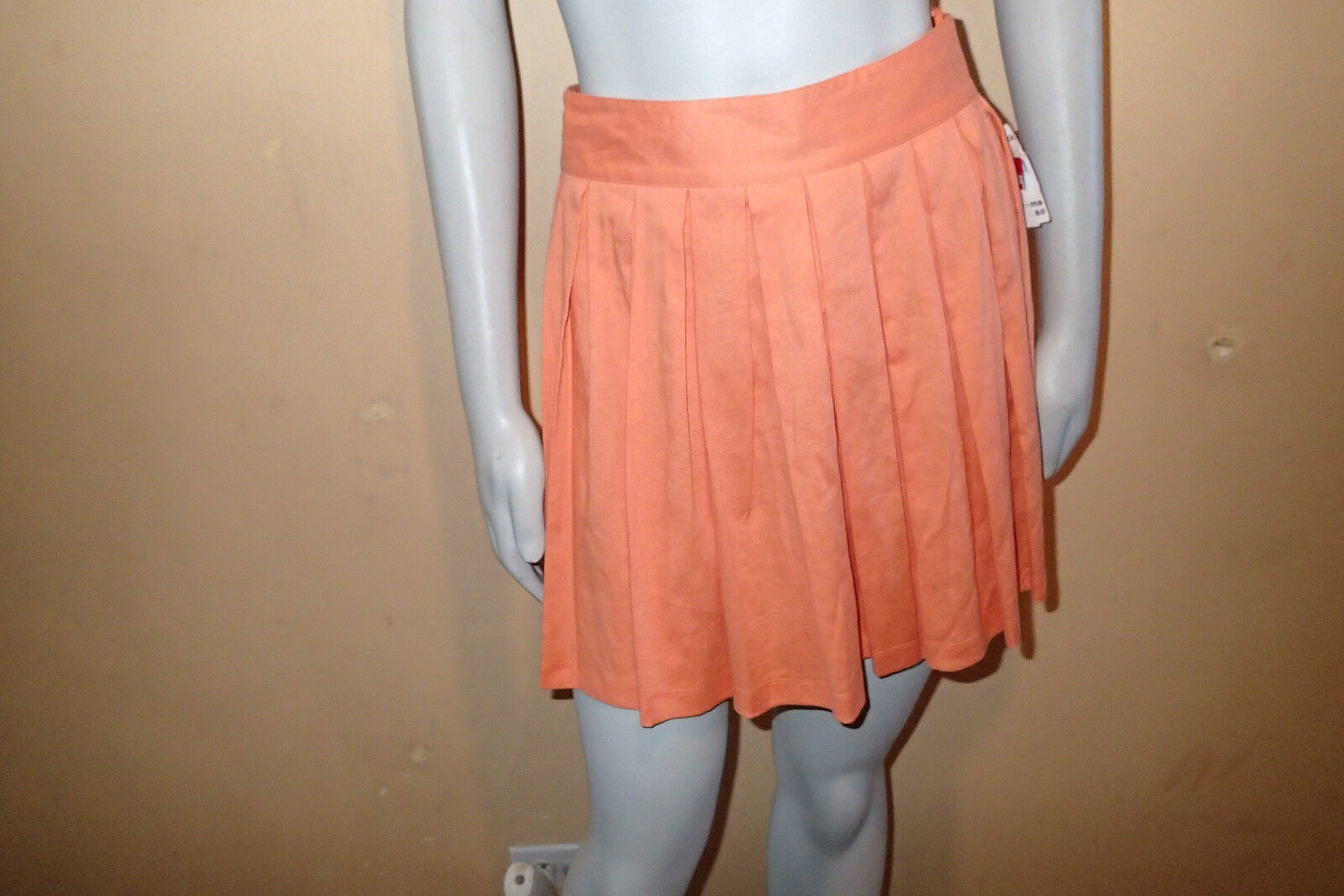 Alice + Olivia Leah Pleated Linen Skirt,SZ 2, MINI,-A