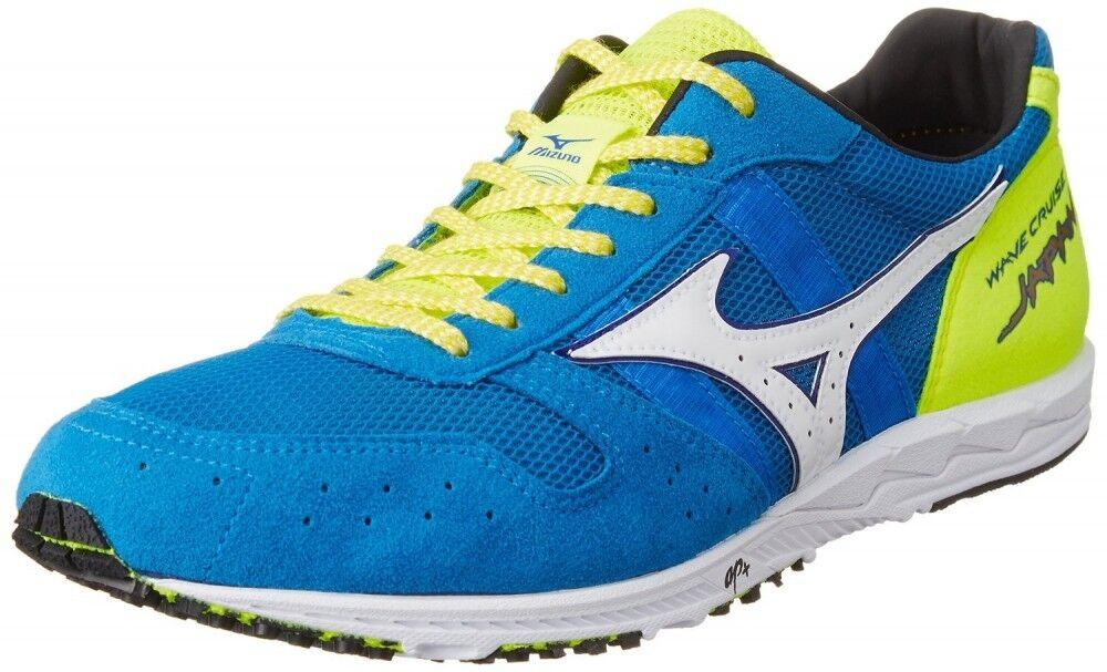 Mizuno Running shoes WAVE CRUISE JAPAN U1GD1610 Sky-bluee X white X flash yellow