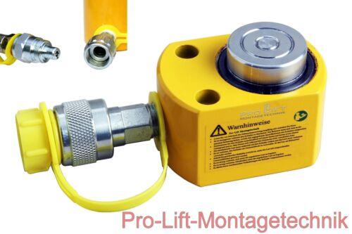 Hydraulikzylinder 10t Kurzhubzylinder Schwerlastzylinder Hubhöhe max.11mm  00055