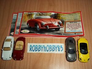 PORSCHE COMPLETE SET WITH ALL PAPERS KINDER SURPRISE 2013