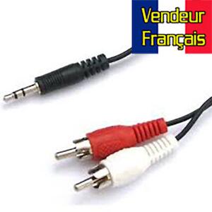 Câble RCA cinch Mini-Jack 5m VENDEUR FRANÇAIS