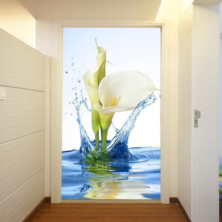 3D Calla White 727 WallPaper Murals Wall Print Decal Wall Deco AJ WALLPAPER