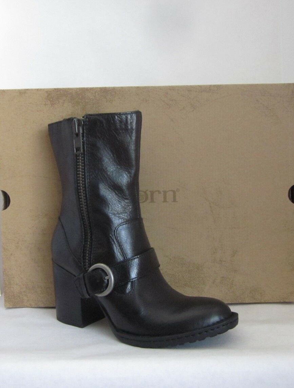 Born Camryn Black Mid Calf Boots - Size 6.5