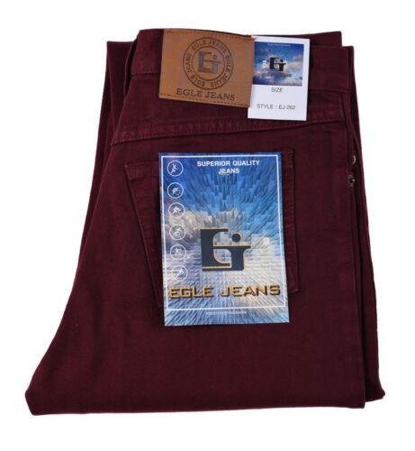 Boy Egle jeans basic Classic//Straight Leg jeans Burgundy 100/% Cotton Solid 8-18