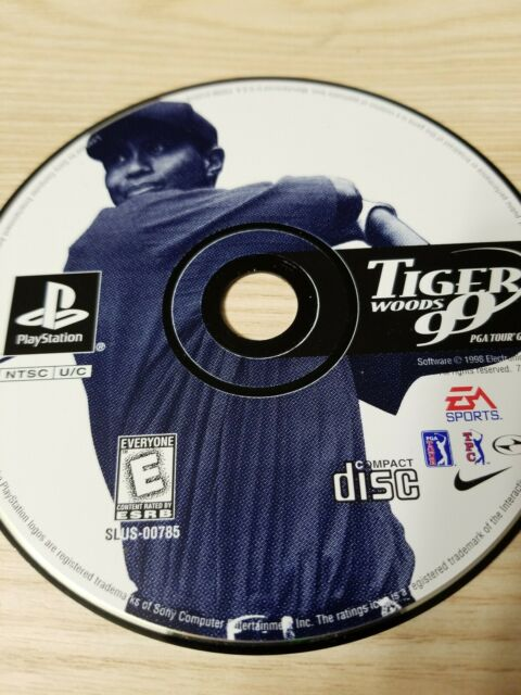 Tiger Woods 99 PGA Tour Golf PlayStation 1 PS1 Disc Only Tested Fast Free Ship!