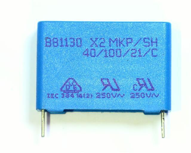 condensador epcos b81130 x2 mkp SH 0,1uf 0,1µf 100nf 275v VDE 1 2 5 10 unid