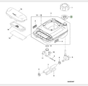 John Deere Lawnmower Fuel Filler Cap Gasket R54RKB M151289 SA818