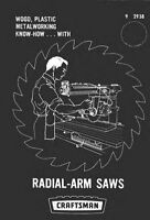 1969 Craftsman Radial Arm Saws Instructions