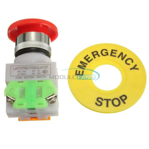 660 V 10 A Interrupteur d/'arrêt d/'urgence Bouton LAY7-20X//3 Rotary Trois Interrupteur De Position