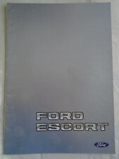 Ford Escort Export range brochure May 1983 English text
