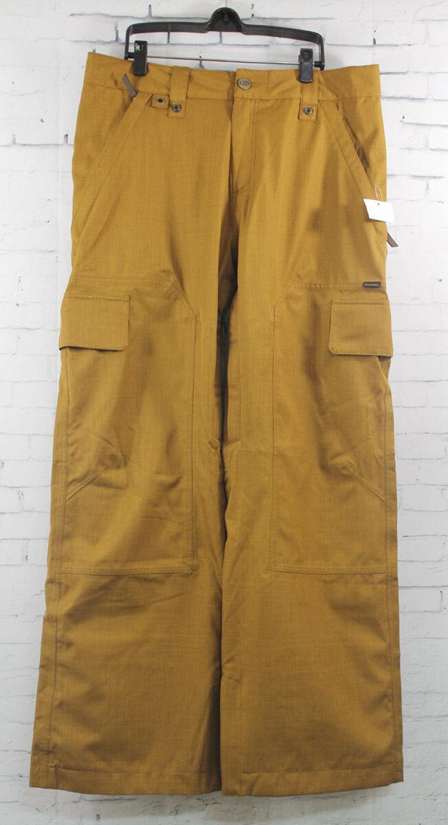 New Bonfire  Herren Arc Shell Ski and Snowboard Pants Large Driftwood