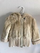Juicy Couture - Faux Fur Hoodie Coat Baby Girl - Size 2T