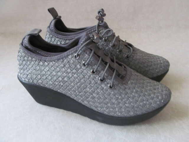 STEVEN MADDEN BASE PEWTER COMFORT WEDGE SHOES SIZE 10 - NEW
