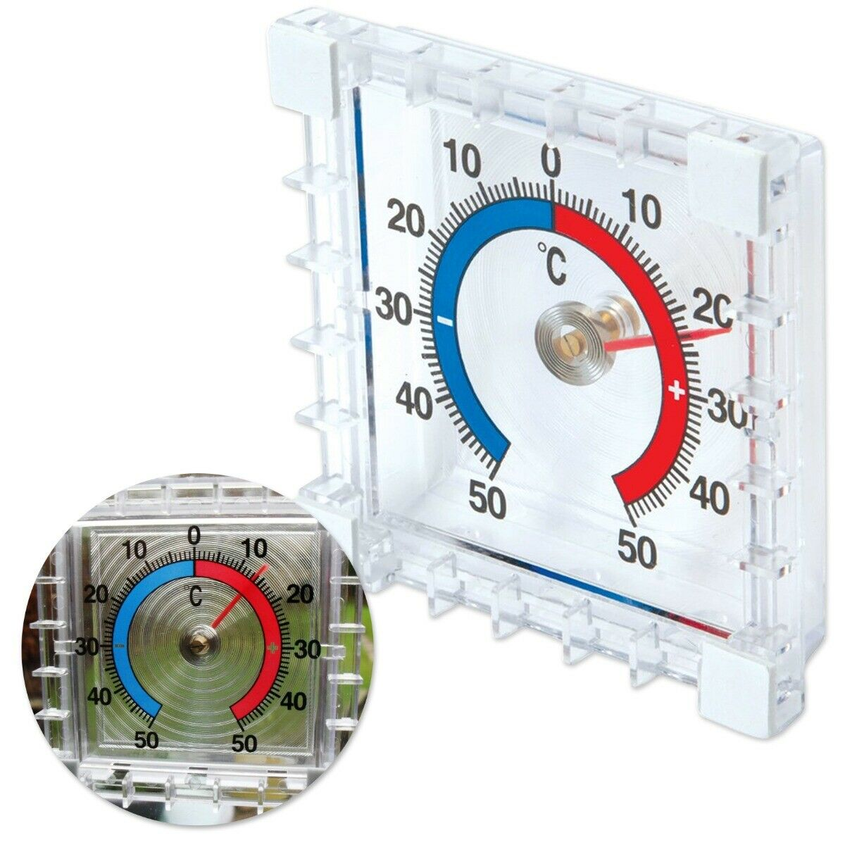 STICK ON THERMOMETER Indoor/Outdoor Temperature Gauge Conservatory Greenhouse