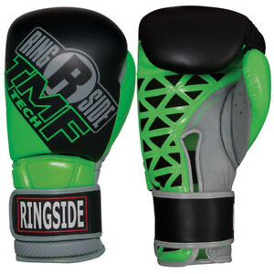 Ringside Youth IMF Tech Hook and Loop Boxing Gloves - 14 oz. - Black/Neon Green