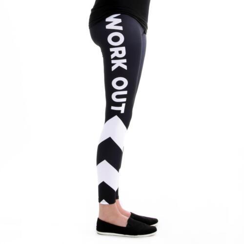 Linien schwarz weiß cosey Damen Leggings Leggins bequem bunt Einheitsgröße